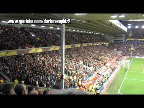 Fans Sparty Prahy v Liverpoole