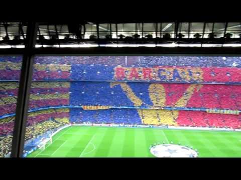 FC Barcelona vs Inter choreo