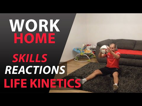 Futbalový tréning na doma - Tréning zručnosti, reakcie a Life Kinetik #6