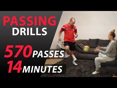 Trénovanie prihrávok doma | 570 prihrávok za 14 minút