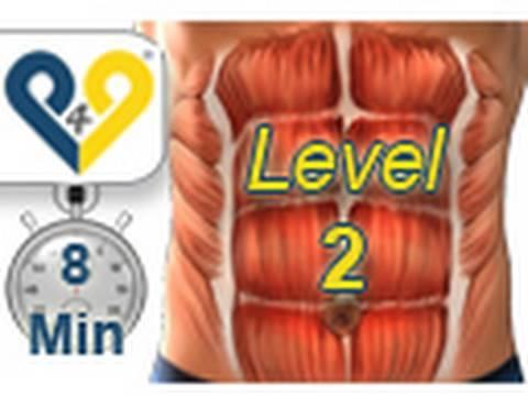 Rozvoj brušného svalstva - abs workout - úroveň 1